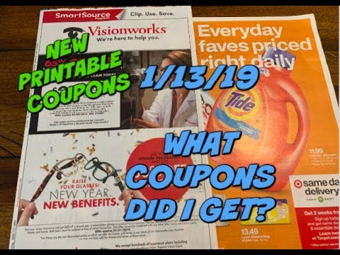 1/13/19 WHAT COUPONS DID I GET?   NEW PRINTABLE COUPONS!