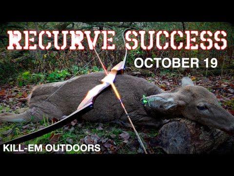 Recurve Deer Hunting SUCCESS!! October 19