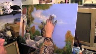 Море и терраса. МК художник  Игорь Сахаров . Уроки живописи