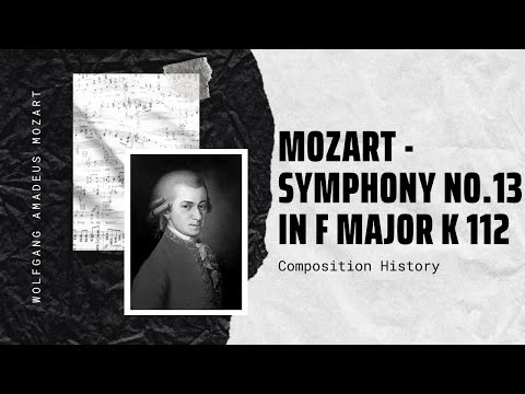 wolfgang amadeus mozart symphony no 13 in f major k 112 andante