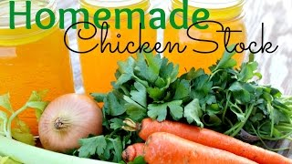 How To Make Homemade Chicken Stock | Gluten Free & Healthy