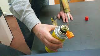 Распаковка и обзор самой бюджетной газовой горелки от цангового баллончика. Испытание в работе.