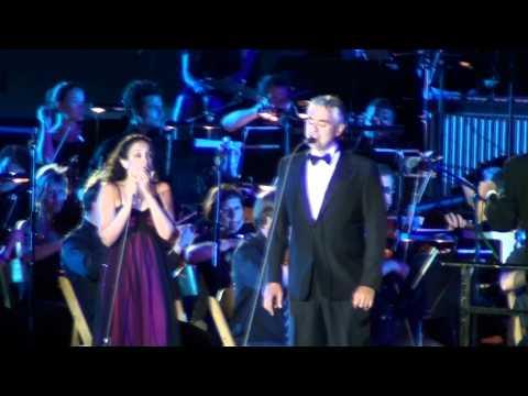 ANDREA BOCELLI at MASADA - Duet with Israeli singer, NOA.