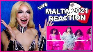 Malta   Eurovision 2021 Reaction   Destiny - Je me casse - LIVE
