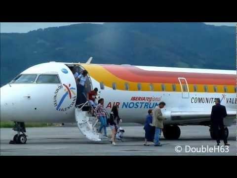 Bombardier CRJ-200 | Landing and taxiing | Iberia AirNostrum | San Sebastian airport LESO-EAS