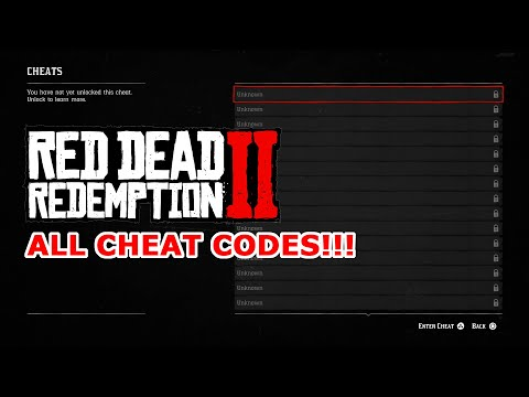 ALL RED DEAD REDEMPTION 2 CHEAT CODES! 27 CHEAT CODES GUIDE!!