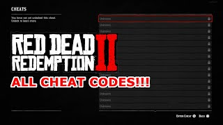 ALL RED DEAD REDEMPTION 2 CHEAT CODES! ALL 27 CHEAT CODES GUIDE!!