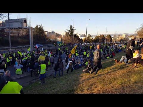 Gilet jaune Saint Étienne acte 14 Blocage autoroute sur 6 km !