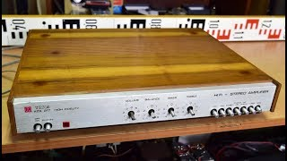 Tesla AZS 217 zesilovač stereo amplifier Verstärker wzmacniacz amplificador