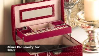 Deluxe Red Jewelry Box - 10015417