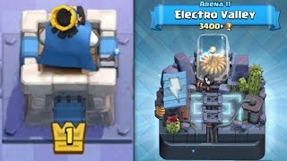 WE DID IT! LEVEL 1 NOOB GETS 3400 TROPHIES FINALLY!!   Clash Royale   HIGH TROPHY LVL 1 PLAYER PUSH!