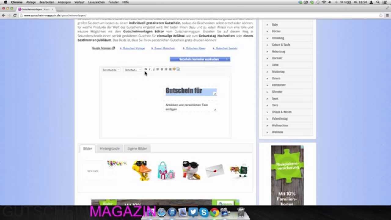 Gutscheinvorlagen & Gutscheinvordrucke gratis erstellen - YouTube