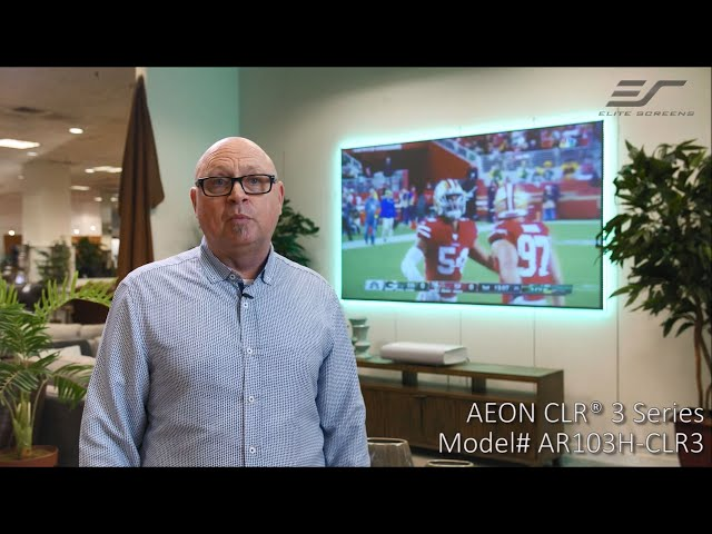 Elite Screens Aeon CLR® 3 at Design Center Furniture Testimonial | ALR/CLR® Fixed Frame Screen