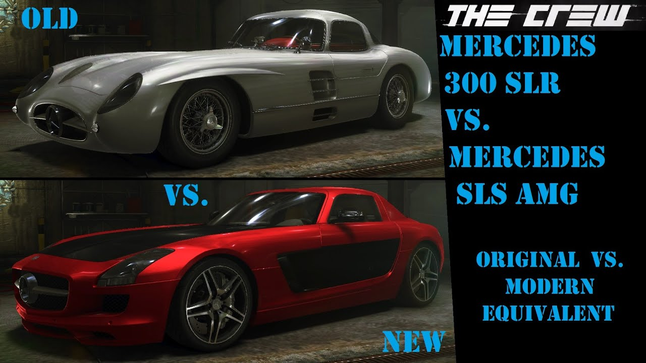 Lets Play The Crew - Part 111 - Old Vs. New (Mercedes 300 SLR Vs. SLS AMG) - 07-17-2015 - YouTube