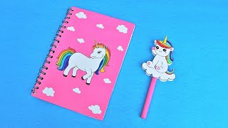 How to make Cute Unicorn Pencil Topper at home #shorts