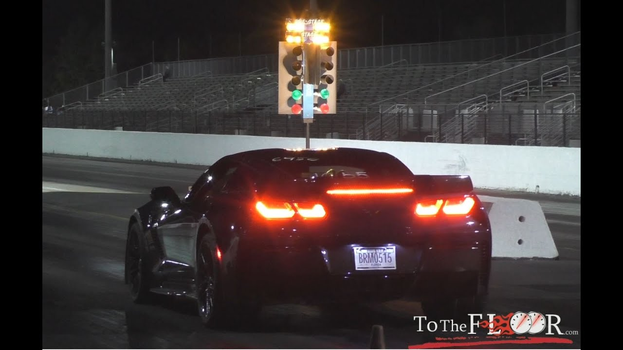 DRAG RACE: 2016 Corvette Z06 with full bolt ons - YouTube