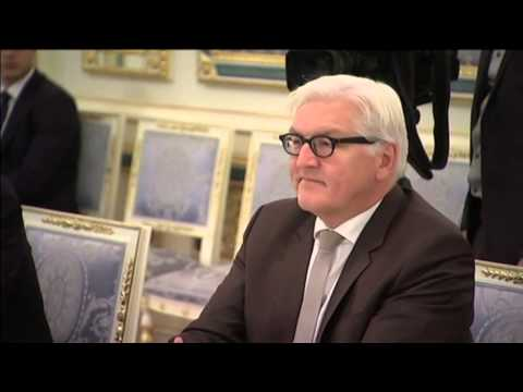 German FM in Ukraine: Steinmeier meets Ukrainian PM Yatsenyuk and President Poroshenko