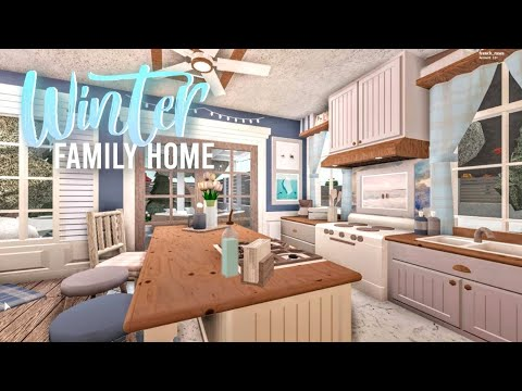 bloxburg|-winter-family-home-|-house-build