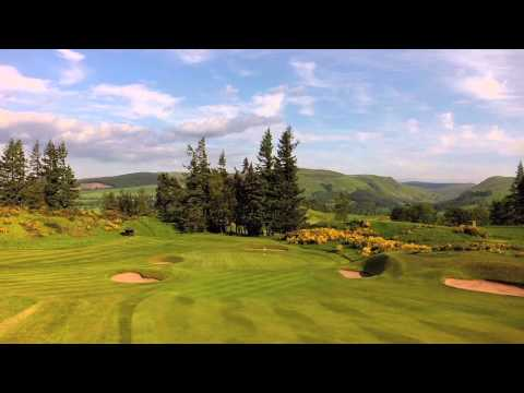 Aerial film of Gleneagles Championship Golf Courses