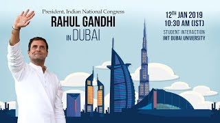 LIVE: Congress President Rahul Gandhi interacts with students from IMT Dubai University