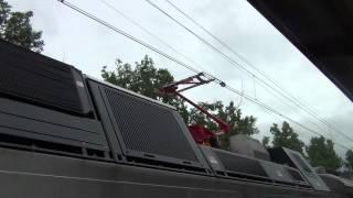 NJ Transit ALP-45DP #4504 Changing Powers at Montclair State University | HD