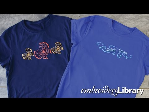 how to embroider t shirts with a machine