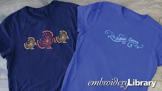 Embroidering on T-shirts
