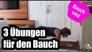 Bauchtraining: Flacher Bauch Miniworkout  - 3 Bauch weg Übungen für zuhause | poundattack.de