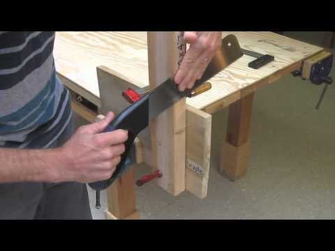How To Cut Wood Using A Simple Jig And Handsaw Youtube