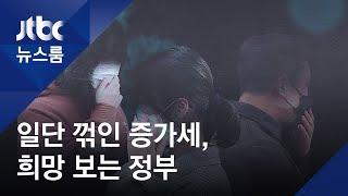 """확진 증가세 주춤…""""소규모 집단감염 우려, 엄중한 상황"""" / JTBC 뉴스룸"""