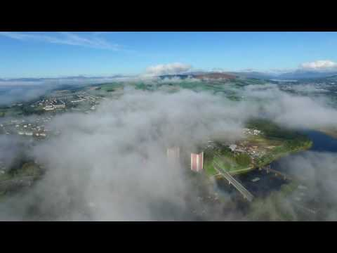 Dumbarton Scotland drone footage