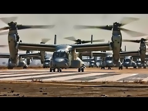 Watch 43 Marine Corps Aircraft Take Off Together in an Elephant Walk