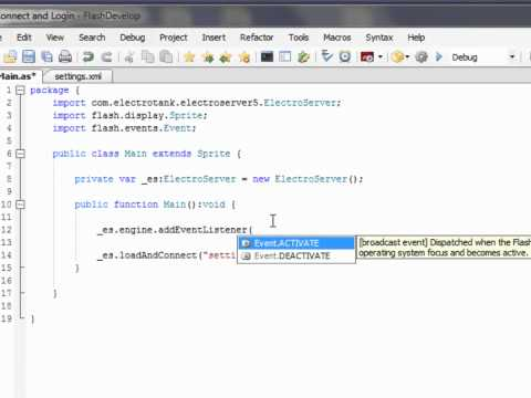 Using ElectroServer with Flash - Part 1