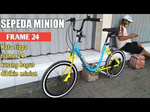Sepeda Minion Frame 24 Kata Siapa Ga Bisa Tampil Elegan Youtube