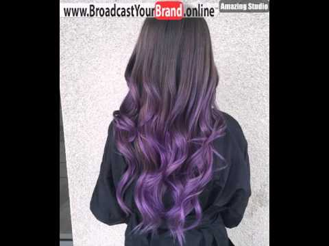 Dark Brown To Purple Ombre Hair Time