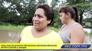 Afectaciones del desbordamiento Río Cotaxtla y Jamapa