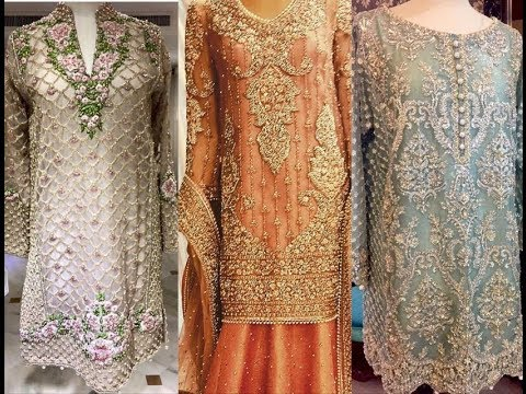 Top Heavy Embellished Kurtis - Pakistani and Indian Fashion style