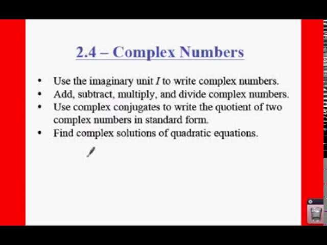 Pre Calculus 24 Complex Numbers Lessons Tes Teach