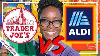 Aldi Haul vs Trader Joes Haul 🛒 $40 Grocery haul Challenge SHOP WITH ME!