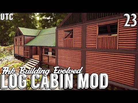 Ark Building Evolved w/ UTC :: Log Cabin Building Mod! OzoCraft 1.7 Preview :: Ep. 23