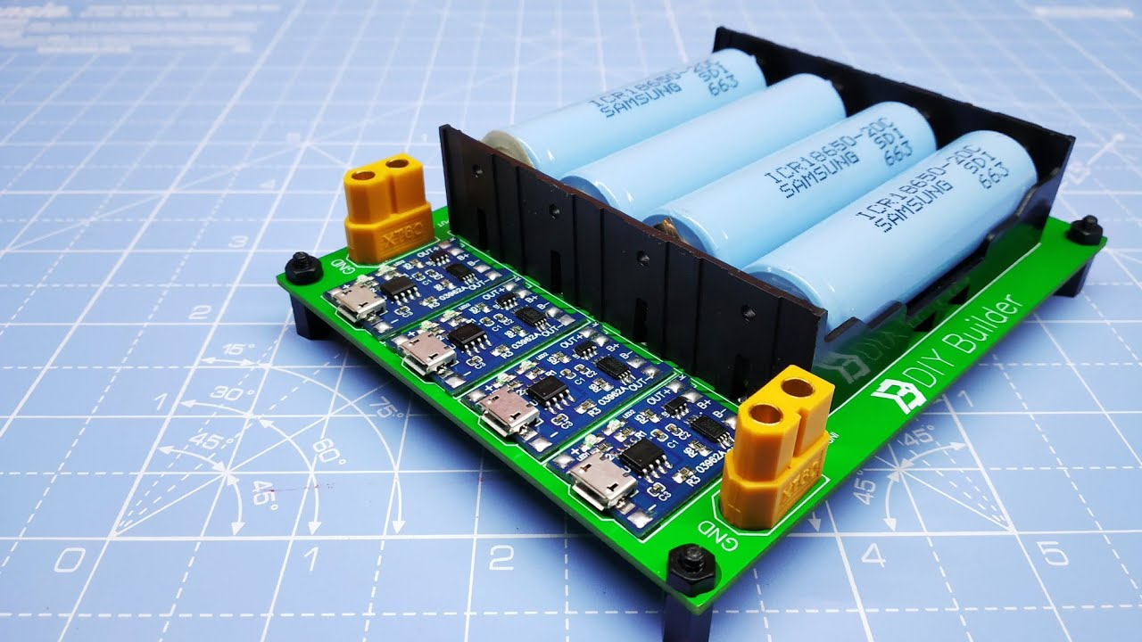 How To Make DIY 18650 Battery Charger Using TP4056 Module ...