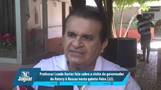Leudo Xavier fala sobre a visita do governador do Rotary à Russas nesta quinta feira 22
