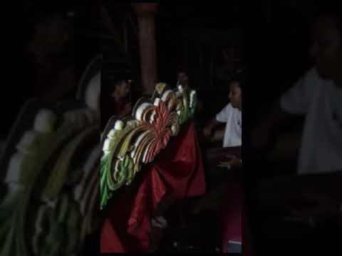 Kolang kaling -  Tourist Education how to play traditional bamboo Instrument - Banjar Sweet Village