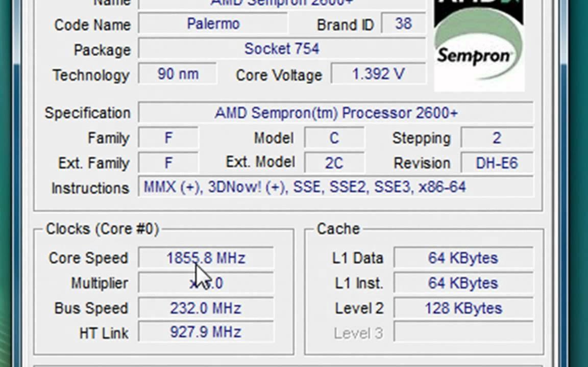 AMD SEMPRON TM PROCESSOR LE-1150 DRIVER FREE