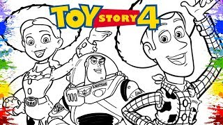 Toy Story 4 (2019) | Disney Pixar movie | Coloring Page | Video for Kids Learn Colours for Children