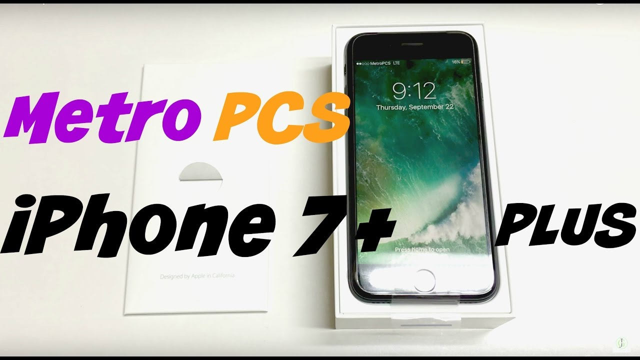 new product b9caf 1c549 Metro Pcs iPhone 7 Plus Unboxing & Review