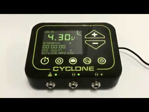 Cyclone Tilt Digital Tattoo Power Supply Unit - YouTube