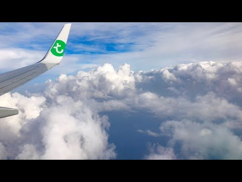 Transavia Airlines Netherlands - Early Morning Flight Amsterdam Schiphol to Athens, Greece