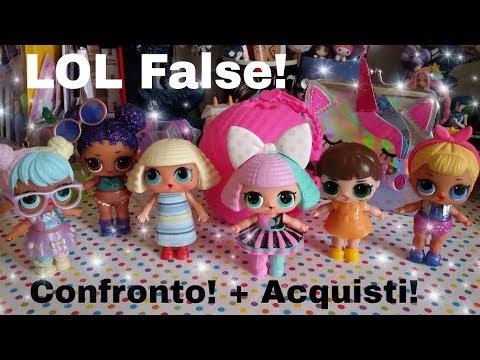 LOL SURPRISE FALSE!!! Fake Come le Riconosco?? Confronto e Acquisti!!! Posta Unicorni kawaii Stampi!