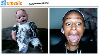 haunted doll JUMPSCARE TROLLING on OMEGLE